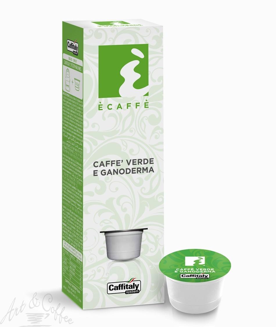 10 Capsule Caffitaly Ecaffè Caffè verde e Ganoderma
