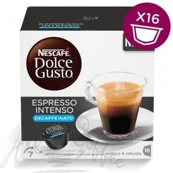 16 Capsule Nescafè Dolce Gusto Espresso Intenso Decaffeinato